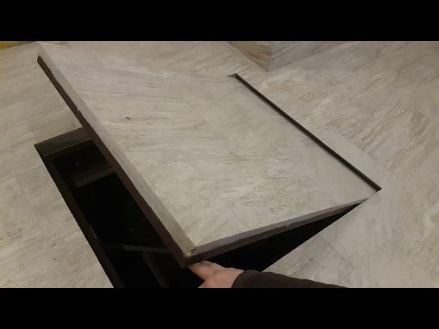 скрытый люк без гемора с петлями под плитку ламинат и т д ч 3 hidden door without hinges
