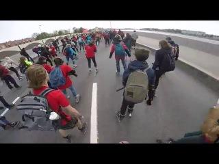 Роллер пробег 2015 Почетные граждане Санкт-Петербурга. Гонки по набережной