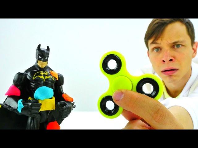 Бетмен и Джокер: БИТВА СО СПИННЕРОМ! Супергерои и злодеи ИгрыДляМальчиков Битва