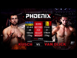 Pavel Kusch vs Christophe Van Dijck Full Fight (MMA) - Phoenix 1