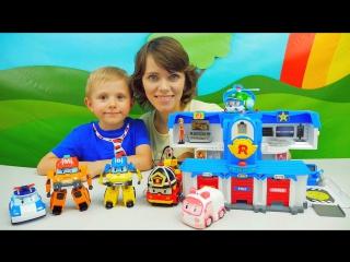 Видео про машинки - Робокар Поли и новые герои Марк и Баки. Мультфильмы про машинки