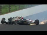 Французский гонщик попал в аварию на скорости 370 кмч. Сломал таз в нескольких местах и правое бедро (VHS Video)