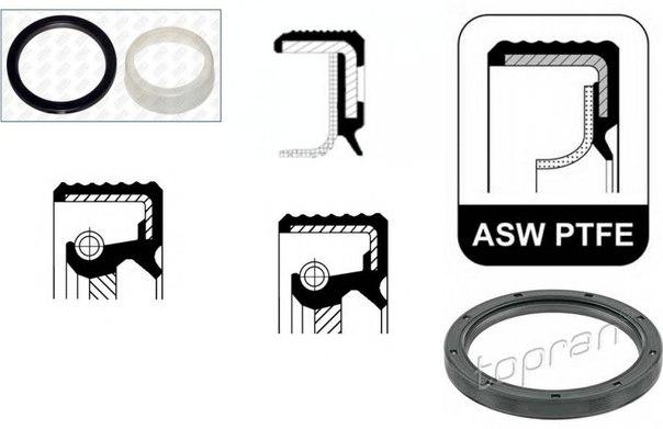 Уплотняющее кольцо, коленчатый вал для AUDI R8 Spyder
