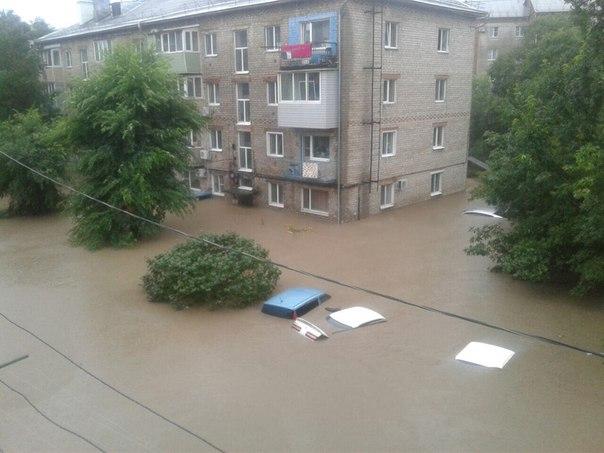 Трасса Владивосток-Хабаровск затоплена