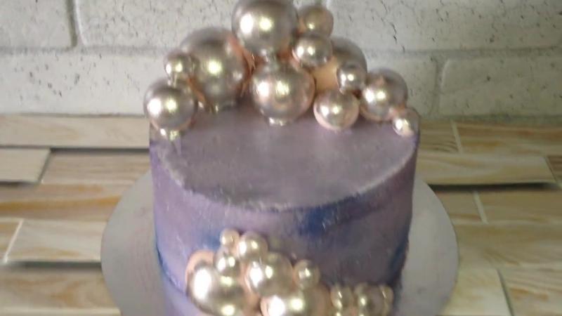 Торт с шарами кондитер Марина Алдохина