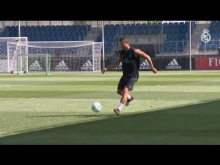 Cristiano Ronaldo's first Real Madrid training session of the new season
