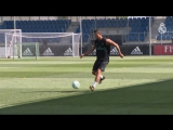 Cristiano Ronaldos first Real Madrid training session of the new season