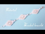 #МК - Браслет из бисера и бусин кошачий глаз #Tutorial - Bracelet from beads of cat's eye