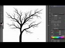 🌳🌳🌳Bare tree Adobe Illustrator cs6 tutorial Quick and easy way how to draw black silhouette tree
