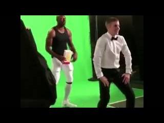 Justin Bieber Behind The Scenes For T-Mobile SuperBowl Commercial