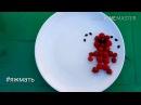 Веселый короткий мультик на тарелке для детей и их родителей