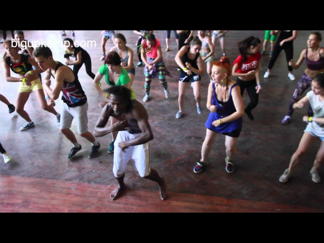 Big Up Kemp Russia 2014 - Nicky Trice Rifical - Dancehall Workshop 1