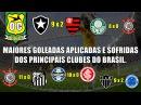 As maiores goleadas APLICADAS e SOFRIDAS dos principais clubes do Brasil