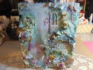 Vintage/Shabby Chic Canvas Tutorial....Cotton Candy Garden