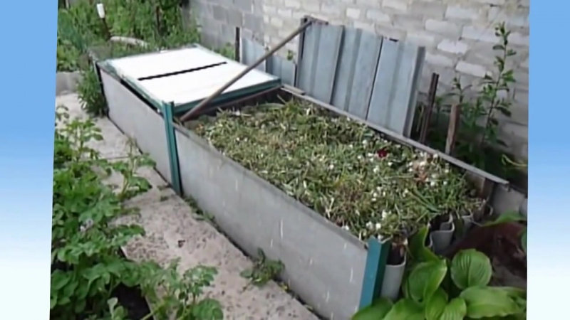 Дача сад огород КОМПОСТНАЯ ЯМА Гумус своими силами ЛЕГКО и ПРОСТО