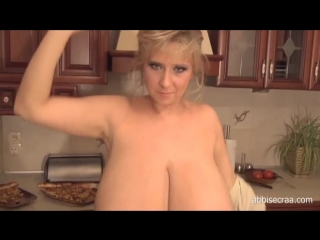 Big Tits Topless Cooking Show with Abbi Secraa
