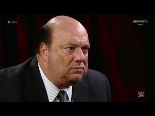 РУС: 545TV WWE: RAW /  / Интервью Пола Хеймана о проигрыше Брока Леснара Голдбергу и будущем Брока