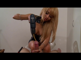 Wow Goddess femdom - urethra sounding by machine