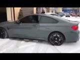 Процесс оклейки BMW M4