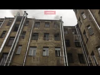 При пожаре в Басковом переулке погиб один человек, трое пострадали