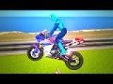 Motorcycle videos for children Spiderman Kids video Animation Cartoon