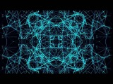 Blue Neon Polygon Background.  Art Pattern Animation. 4K Abstract Kaleida Texture