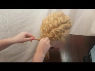 Прически объемные свадебные, прически на длинные волосы низкий пучок из жгутов hairstyle быстрые