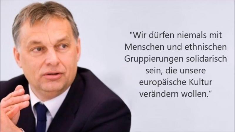 Orban Europa wird ethnisch islamisiert