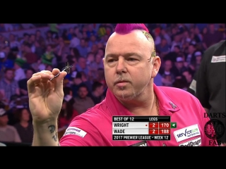 Peter Wright vs James Wade (2017 Premier League Darts / Week 12)