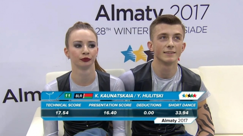 28th Winter Universiade 2017. Ice Dance - SD. Kristsina KAUNATSKAIA / Yuri HULITSKI
