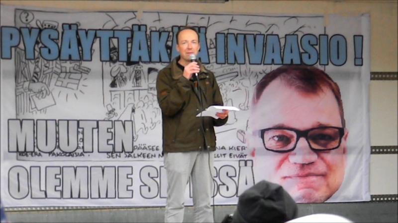 Jussi Halla-aho puhe Jotain Rajaa -mielenosoituksessa - Helsinki 10.10.2015