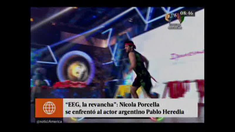 EEG La revancha - Nicola Porcella se enfrento al actor argentino Pablo Heredia