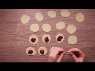 Рецепт постных вареников с вишней