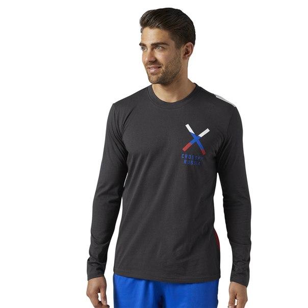 Спортивная футболка с длинным рукавом Reebok CrossFit Patriotic Graphic - Russia