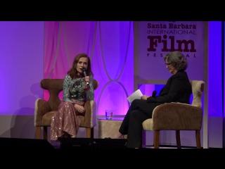 SBIFF 2017 - Isabelle Huppert Discusses Curtis Hansen David O. Russell | Изабель Юппер