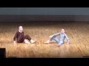 Быстрова Катя (10 лет - коричневый комбинезон), Горячкина Лена (11 лет - серый комбинезон) Ёжик и медвежонок