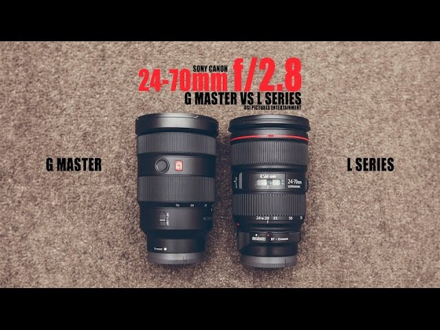 Canon EF 24-70mm f/2.8L II USM VS Sony 24-70mm f/2.8 GM G Master (Which one is better?)