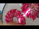 Хризантема вышитая лентами Chrysanthemum embroidered ribbons