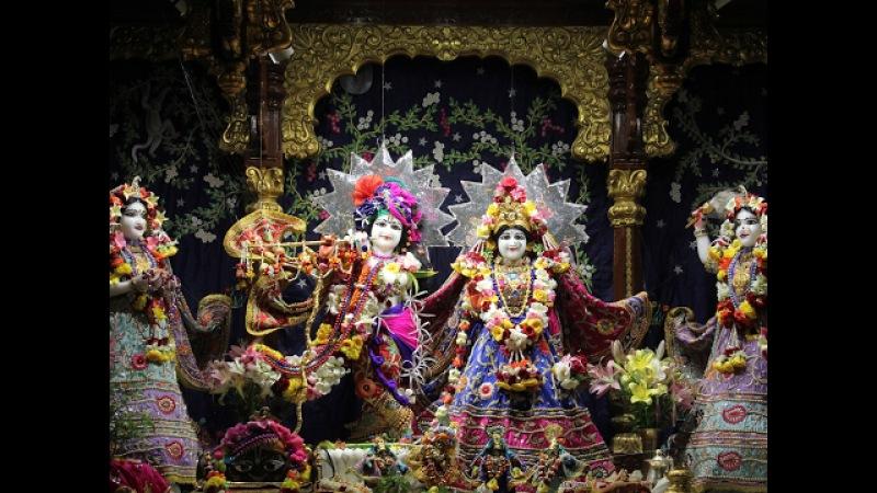 Gaura Purnima Abhishek By H.H. Gopal Krishna Goswami Maharaj In Room