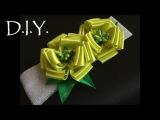 D.I.Y. Satin Flower Baby Headband  MyInDulzens