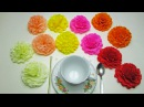 How To Make a Tissue Paper Flowers - DIY Paper Craft