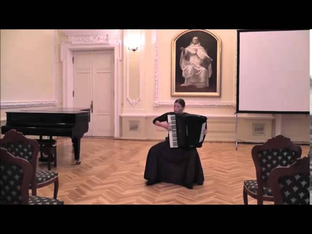 J.S.Bach - Prelude and fugue h minor GTK IIt. Agne Daucianskaite Accordion