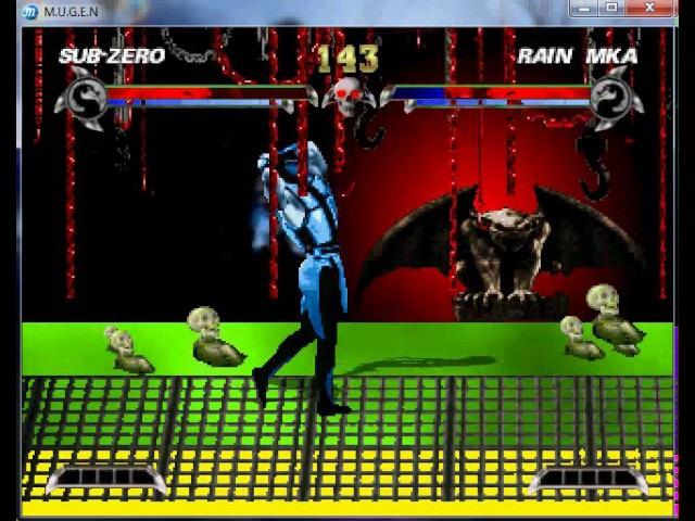Mortal Kombat Demonic Subzero Blue