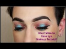 Fall Makeup Tutorial Blue and Purple Glitter Eye MannyMua