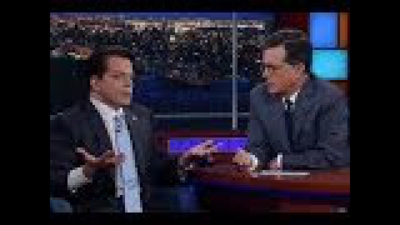 Anthony Scaramucci met Stephen Colbert Monday, and it was mostly awkward
