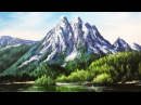 Paint Mountains With Acrylic Paints - lesson 3