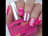 Красивый розовый маникюр