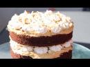 шоколадный торт с безе и карамельным кремом