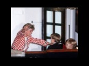 Princes Diana Prince Charles greeting Princes William-Harry on the deck of the yacht Britannia