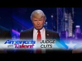 The Singing Trump Bringing America Together with Backstreet Boys Medley - America's Got Talent 2017